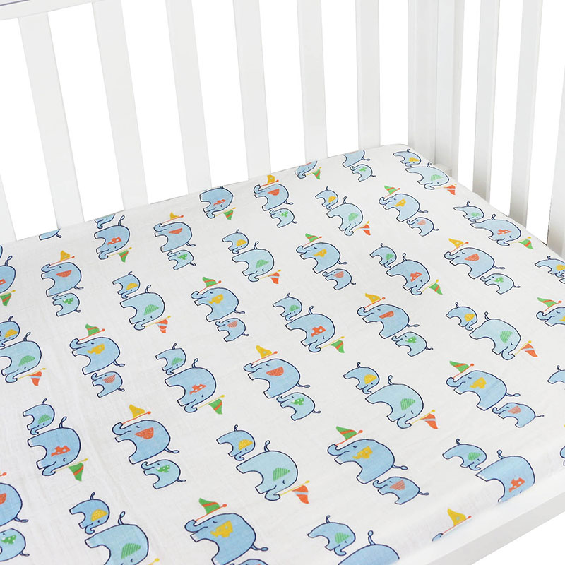 muslin crib fitted sheet